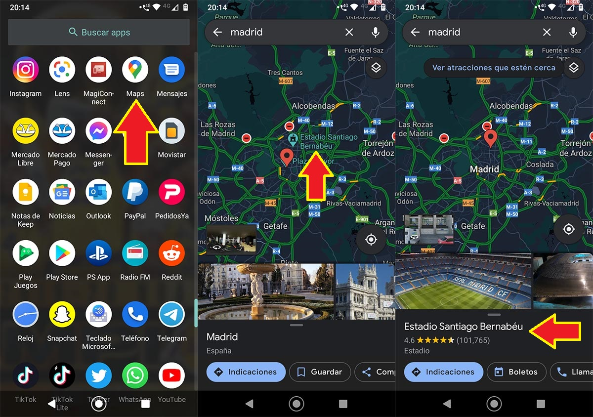 Buscar sitio en Google Maps