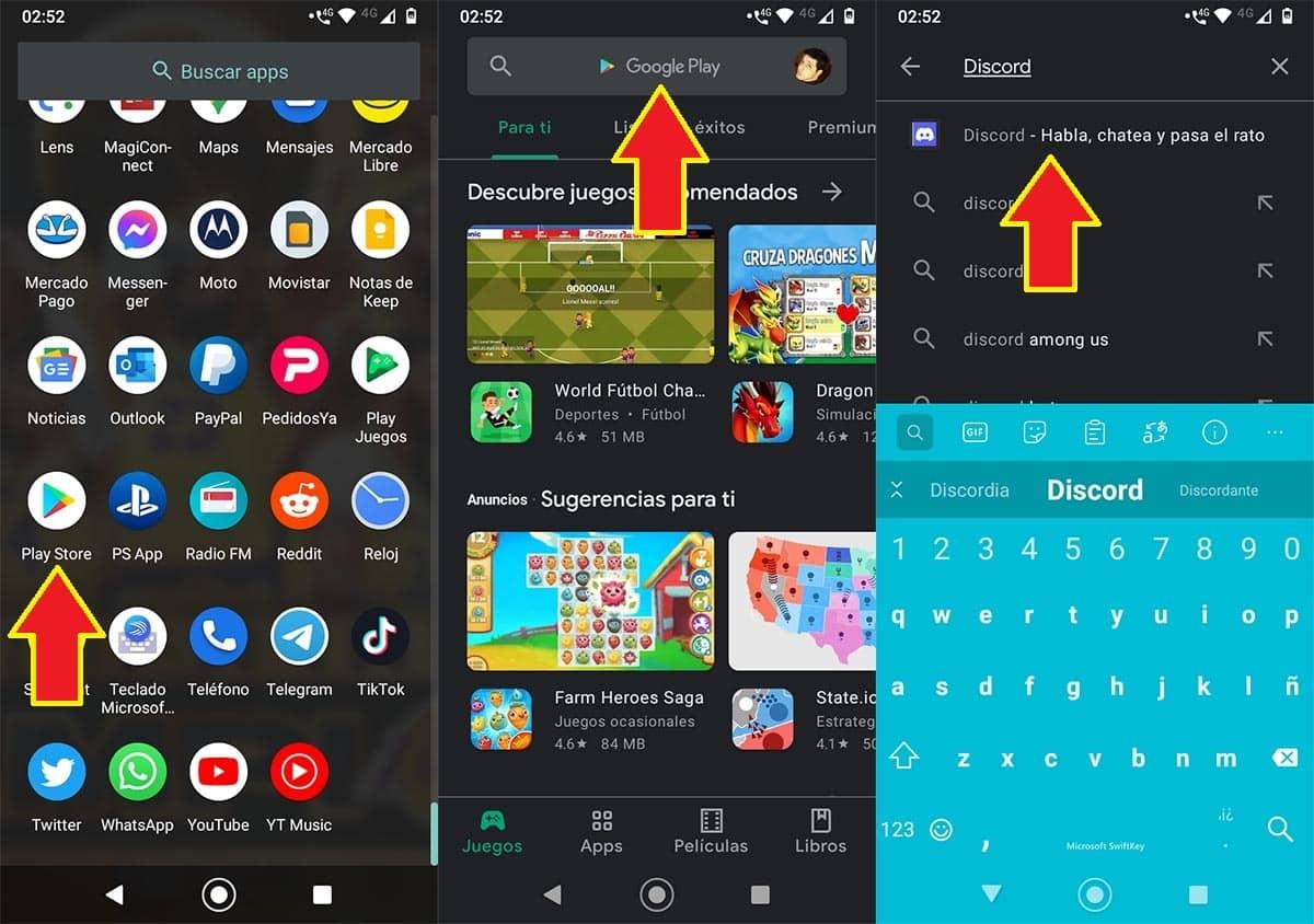 Cómo instalar Discord en Android