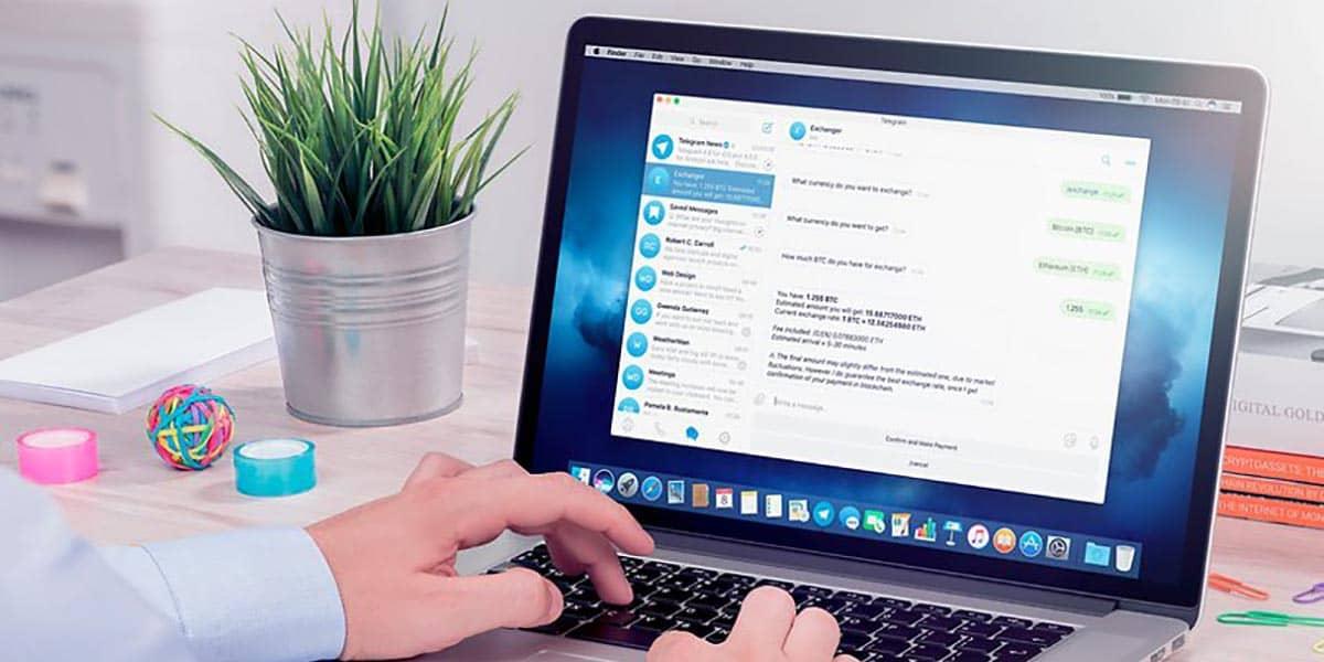 Descargar fotos de Telegram Web en el PC